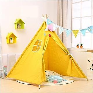 YSJJWDV Teepee tält 1,35 m stort barn tält wigwam bärbart indiskt barn tält tipi interiör baby lekhus hopfällbart litet hu...