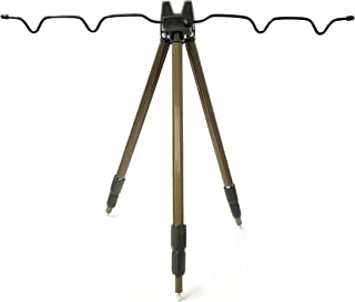 【オルルド釣具】 投げ釣り アルミミニ三脚 3段 軽量&折りたためるコンパクト機能付 ブラウン qb500029a04n0