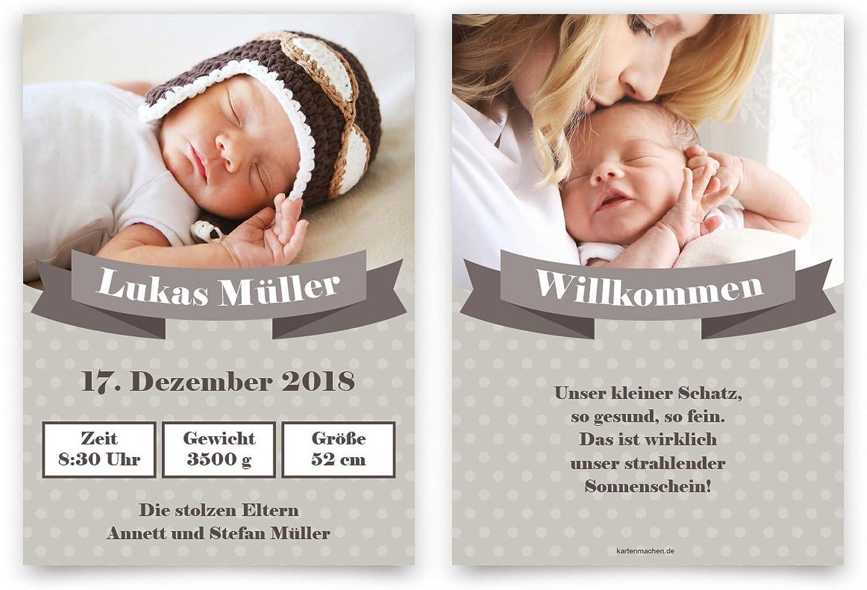 40 x Geburtskarten Babykarten Geburt Geburt Geburt Baby individuell Mädchen Junge - Willkommens-Schärpe B079BTWNF9   Bunt,  307059