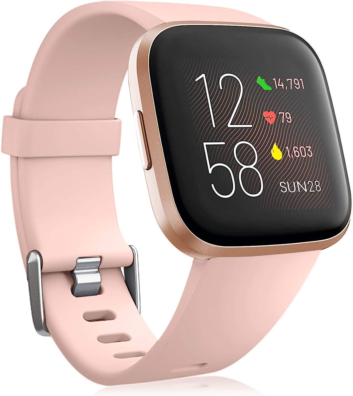 Oielai para Correa Fitbit Versa 2/Correa Fitbit Versa, Silicona Deporte Clásico Reemplazo Correos Compatible con Fitbit Versa Lite/Fitbit Versa 2/Fitbit Versa para Mujeres Hombres Pequeña Grande