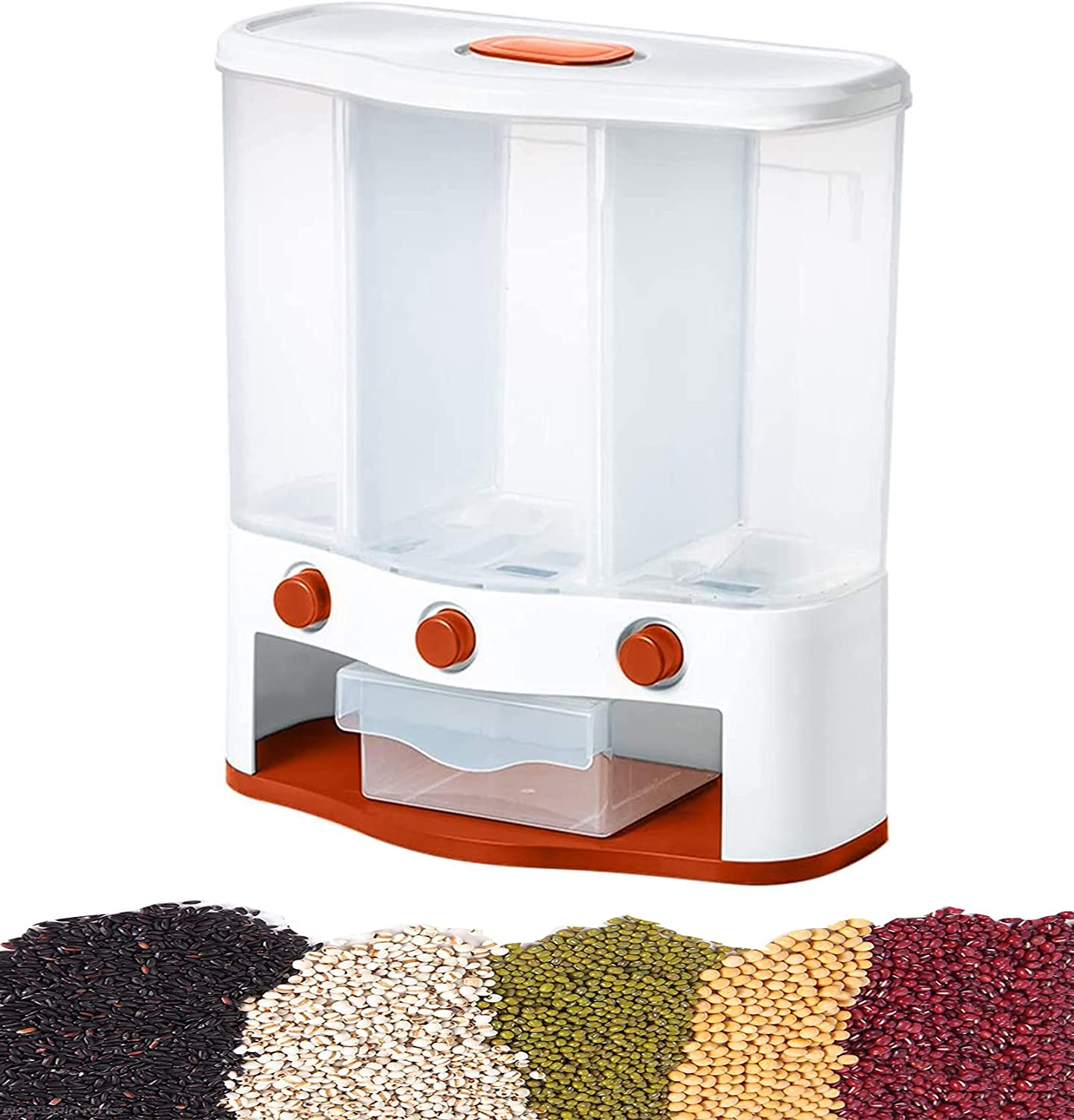 AJGH In stock Cereal Super sale Dispenser Wall Mounted l Dry Food with Box