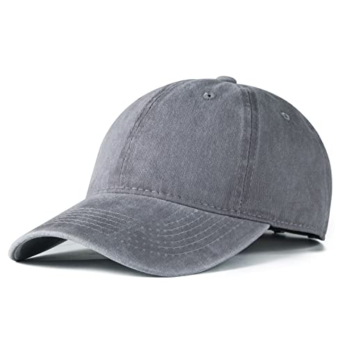 a9558292a77 Edoneery Men Women Plain Cotton Adjustable Washed Twill Low Profile Baseball  Cap Hat(A1008)
