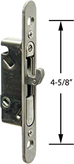 """FPL #3-45-SS Sliding Glass Door Replacement Mortise Lock with Adapter Plate, 4-5/8"""" Screw Holes, 45 Degree Keyway, Stainless Steel- Satin Stainless Steel Finish"""