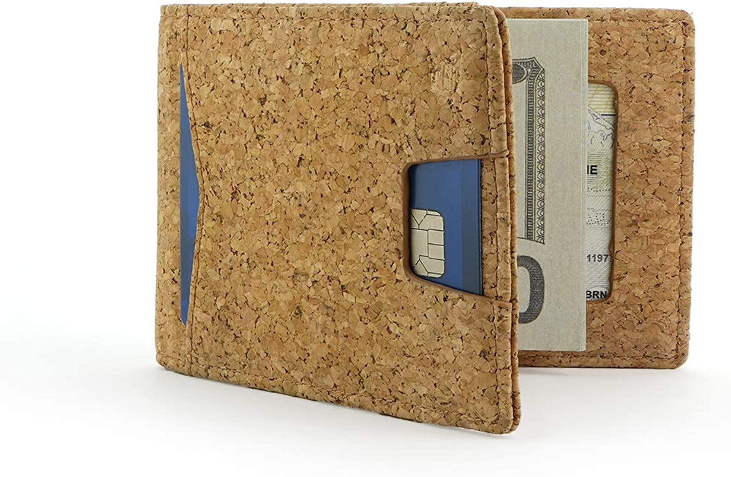 Andar Leather Slim RFID Blocking Minimalist Bifold Wallet with Money Clip made of Full Grain Leather