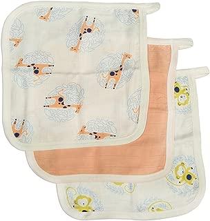 Silkberry Baby Bamboo Muslin Washcloth Set 3 Pack