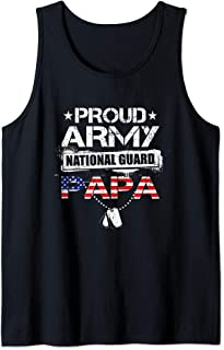 Proud Army National Guard Papa Gift T-Shirt U.S. Military Tank Top