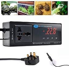 Reptiel Thermostaat, Terrarium Kachels Temperatuurregelaar Outlet Digitale LED met zuignap voor reptielen Aquaria Insecten...