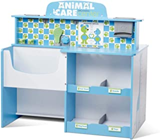 Melissa & Doug Animal Care Veterinarian & Groomer Wooden Activity Center (Role Play Center, Great for Plush Stuffed Pets, Great Gift for Girls and Boys - Best for 3, 4, 5 Year Olds and Up)