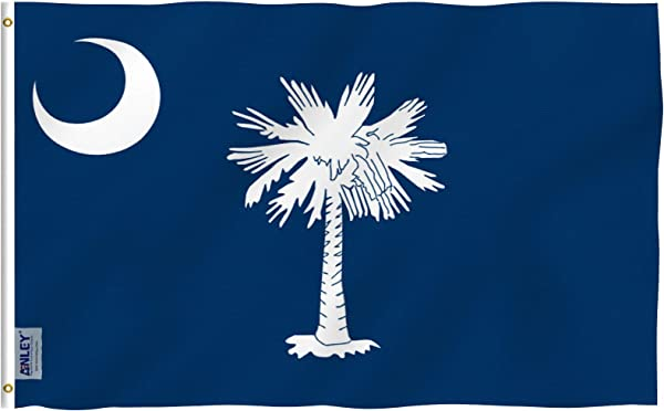 Anley Fly Breeze 3x5 Foot South Carolina State Polyester Flag Vivid Color And UV Fade Resistant Canvas Header And Double Stitched South Carolina SC Flags With Brass Grommets 3 X 5 Ft