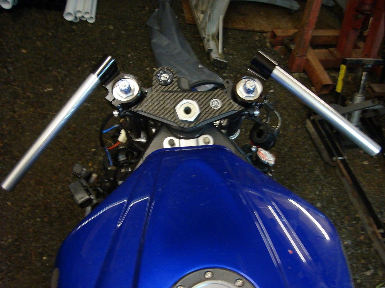 CNC Aluminum /Φ 37mm Clip ons Handlebar replacement Fit for Honda CBR250RR Suzuki GS500 GS550T Universal fork /Φ 37mm cafe Racer Tilt Angle 8/° 7//8 bars riser Clip-ons Assembly Black