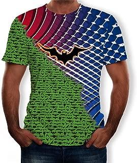 Men 2019 Halloween T-Shirts, Colorful Print Lantern Pumpkin Ghost Spider O-Neck Short Sleeve Tops