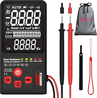 "Bside Upgraded Multimeter Digital Voltage Tester 3.5"" EBTN LCD 3-Line Display 9999 Counts True RMS Auto Ranging DMM Volt O..."