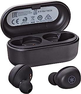 Yamaha TW-E3A słuchawki Bluetooth – bezprzewodowe słuchawki douszne w kolorze czarnym – 6 godzin odtwarzania po jednym nał...
