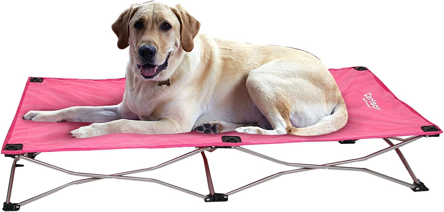 Carlson Pet Portable Pup Travel Dog Cot (Pink, Large (48  L x 26  W))