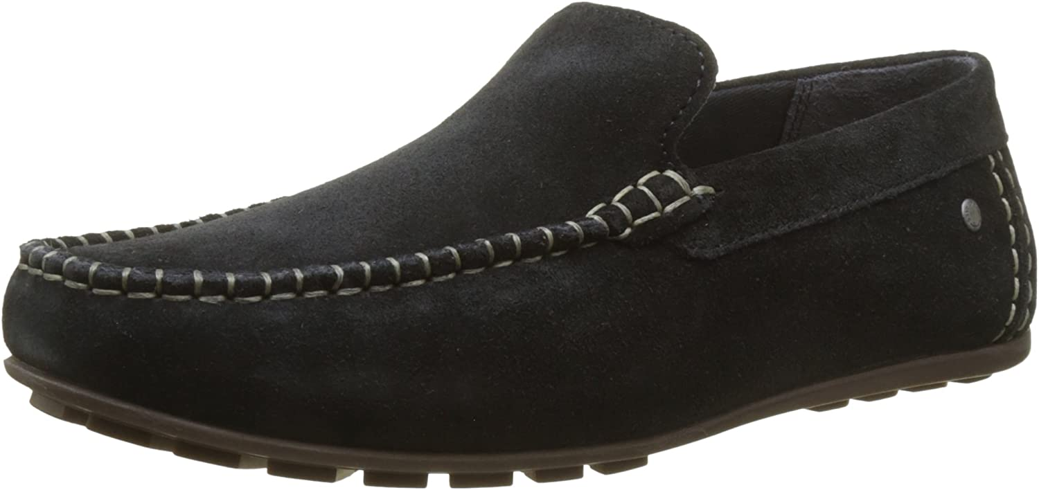 Base London Mens Henton Suede Leather Moccasins