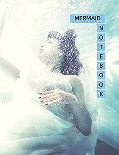 Mermaid Notebook: No.2 Blue Arctic Color Cover 8.5x11