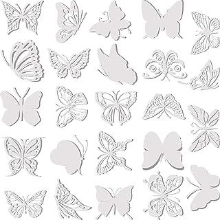 24 Pièces Autocollants de Fenêtre de Papillon Larges Anti-Collision Autocollants de Fenêtre Autocollants Anti-Oiseau Trans...