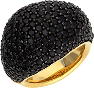 ESPRIT Glamour Women's Ring-It Nyxia-Black GOLD Partially Gold-Plated with BLACK Spinel-Esrg02034D1 gold