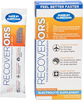 RecoverORS Clinical Electrolytes | Hydration for Adults | Oral Rehydration Solution ORS
