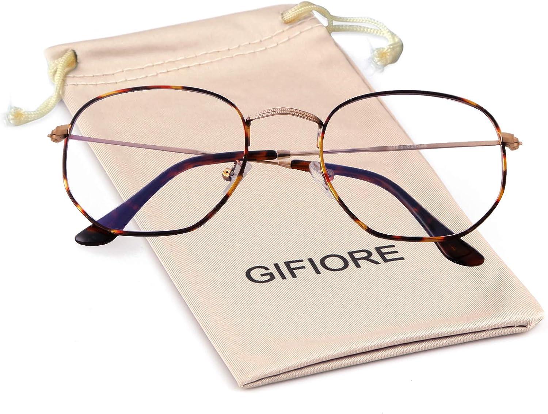 Blue Light Blocking Glasses Eyeglasses Anti Max 81% OFF Daily bargain sale Frame Hexagonal