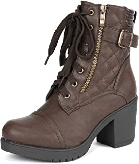 Best brown chunky heels boots Reviews