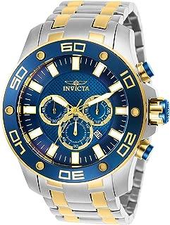 Men's Pro Diver Scuba Quartz Watch with Stainless Steel Strap, Two Tone, 30 (Model: 26082)