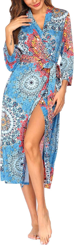 VOOMALL Kimono Robes for Women Long Bathr Lightweight SALENEW Max 43% OFF very popular Knit