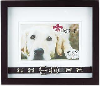 إطار صورة لورانس فريمز خشب الجوز مزدوج مقاس 15.24 × 10.16 سم - تصميم طوق الكلب