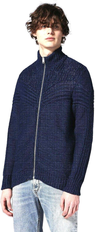 Diesel K Chute Mens Cardigan Sweater Blue Size XXL