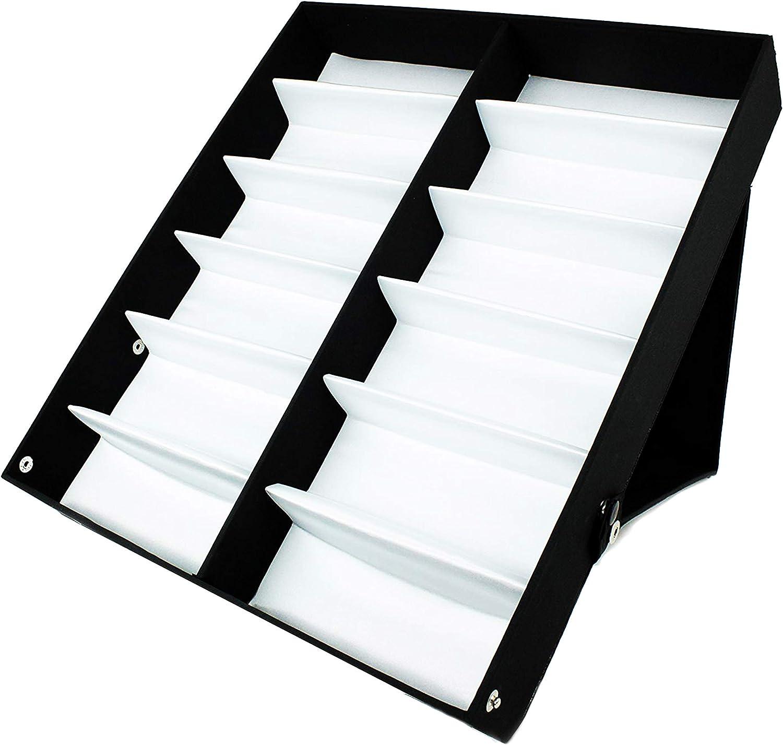 V BY VYE 12 PC Sunglasses Organizer Display Case Holder - Durable Eye Glasses Storage Stand