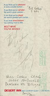 Bill Cosby Signed Autographed Program Hello America! Desert Inn JSA GG68915
