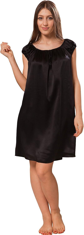 ElleSilk Women's Silk Slip with Scoop Neckline, Hypoallergenic