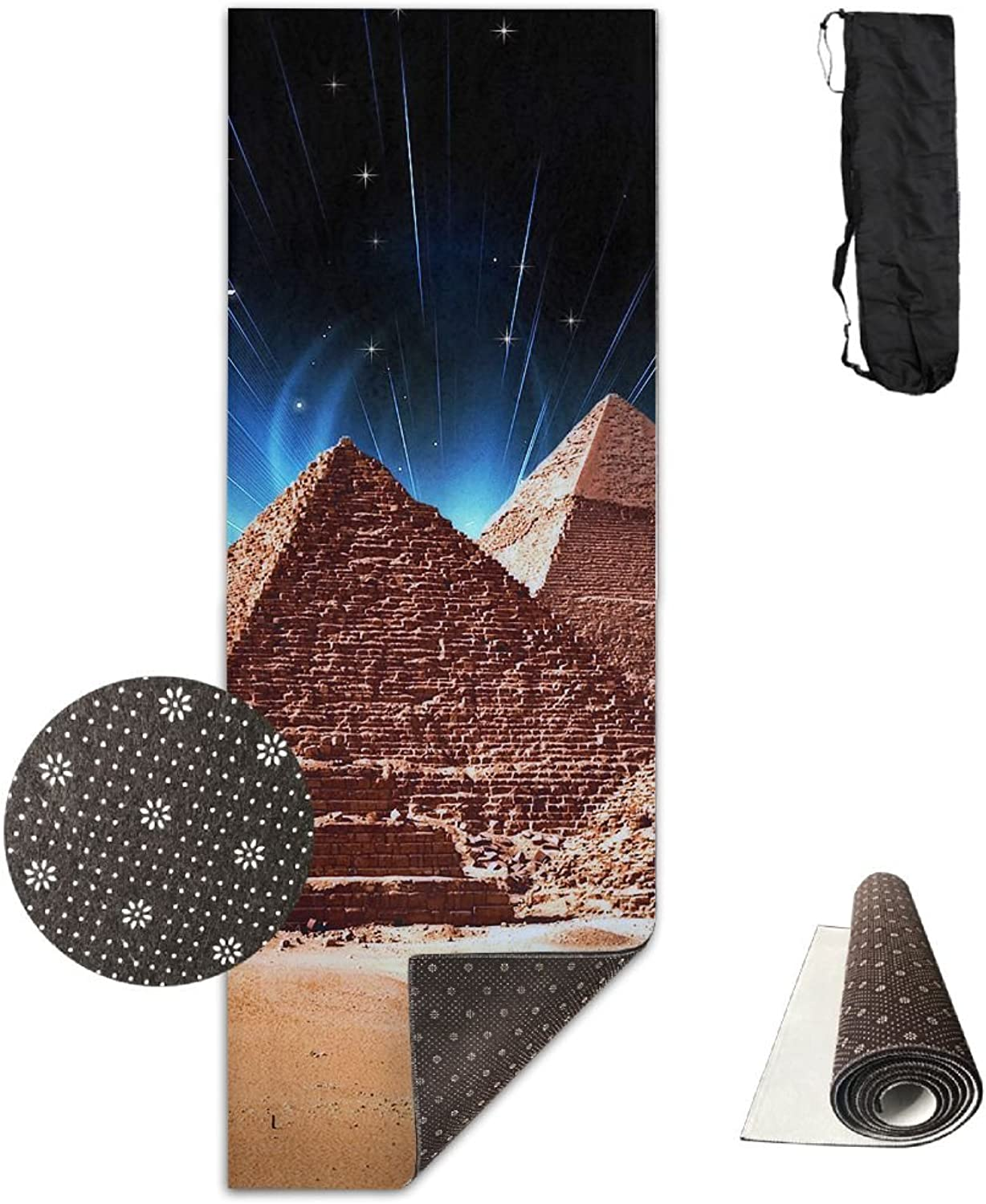 Gym Mat Pyramids Of Egypt Fitness High Density AntiTear Exercise Yoga Mat With Carrying Bag For Exercise,Pilates