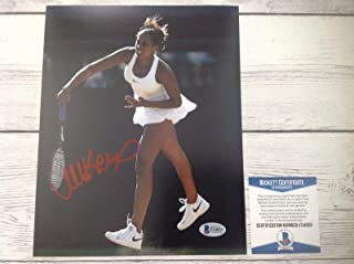 Signed Madison Keys Photo - 8x10 Beckett BAS COA b - Beckett Authentication - Autographed Tennis Photos
