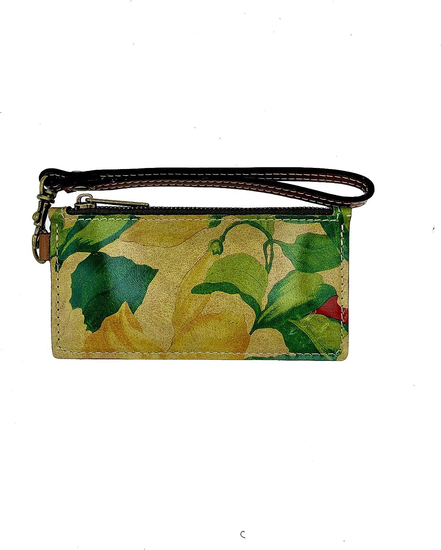 Patricia Nash Leather Almeria Credit Card Wristlet in Spring Lily