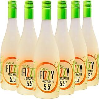 comprar comparacion Fizzy Frizzante Vino Espumoso Verdejo - Pack de 6 Botellas x 750 ml