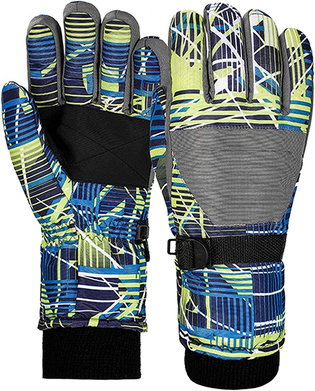 Komopesu Childrens sports gloves- Kids Children Full Finger Mittens, Winter Warm Windproof Waterproof Outdoor Sports Ski Gloves ( Gray )