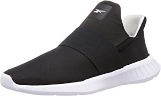 Reebok Slip 2 Mesh-Upper Elastic-Strap Front-Logo Slip-On Running Sneakers for Women - Black and Pure Grey 2, 40