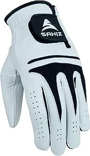 Sahiz Men's Golf Glove Premium Quality Genuine Cabretta Leather Left Hand All Weather Golf Gloves