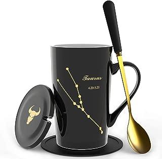 【New Upgrade】Fullcci-15oz Mug, Constellation mug, Originality, Drink Cup Tumblers for Water, Coffee, Tea, Milk, Juice etc. (Taurus)