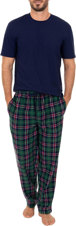 Varsity Men's Knit Fleece Pant and Jersey Top Pajama Set