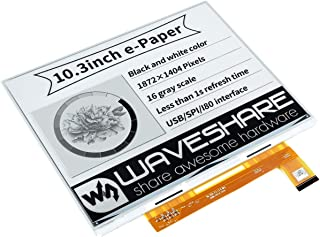 Waveshare 10.3inch E-Paper E-Ink Raw Display 1872×1404 Pixels Black/White 2-16 Grey Scales Parallel Port Without PCB