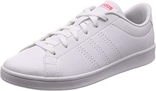 Adidas Advantage Clean Qt, Women's Tennis Shoes, White (Ftwr White/Ftwr White/Shock Red), 5.5 UK (38 2/3 EU) (F34710)