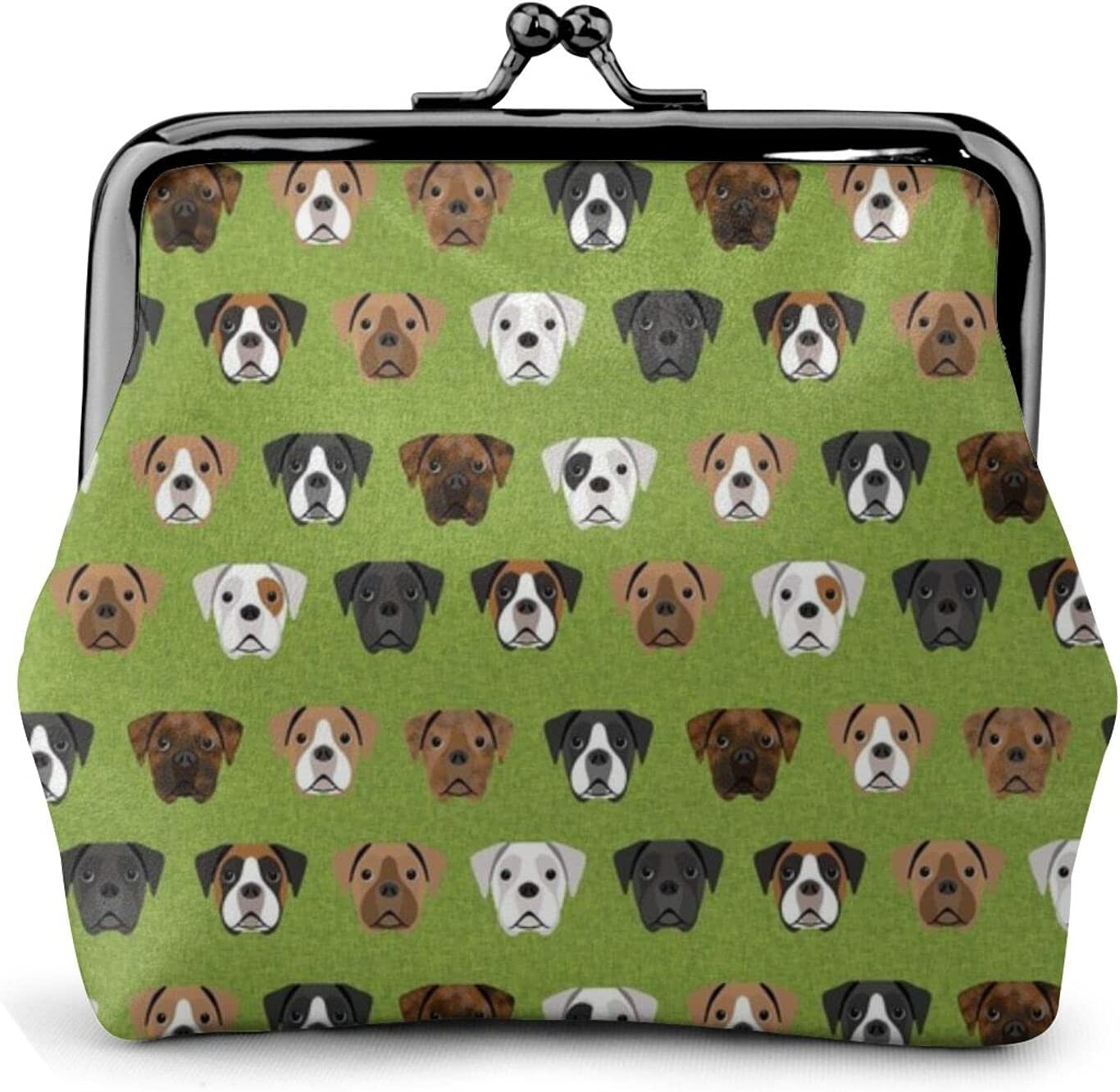 Boxer Dogs Dog 1164 Coin Purse Retro Money Pouch with Kiss-lock Buckle Small Wallet for Women and Girls