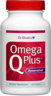 Sponsored Ad - Dr. Sinatra's Omega Q Plus Resveratrol - Omega-3 Supplement with CoQ10 and Resveratrol - Promotes Comprehen...