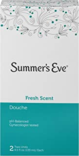 Summer's Eve Douche, Fresh Scent, pH Balanced, Dermatologist & Gynecologist Tested, 2 Count per pack, 9 Fl Oz