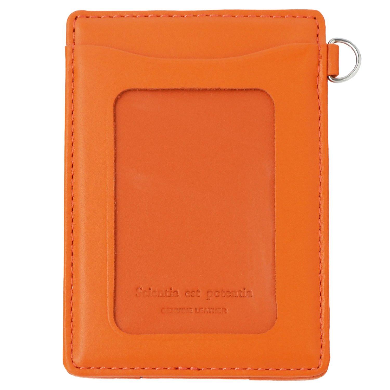 スリップオン 単パスケース ノワール 革 オレンジ NSL-1801