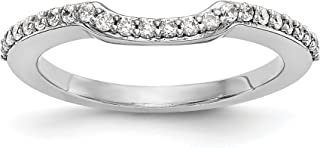 14k White Gold True Origin Lab-Grown Diamond Band Ring, VS/E- 0.288 cttw Ideal Gifts For Women
