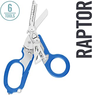 LEATHERMAN, Raptor Emergency Response Shears with Strap Cutter and Glass Breaker, Blue..