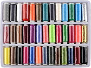 TRIXES Pack of 39 Assorted Colour Polyester Sewing Threads